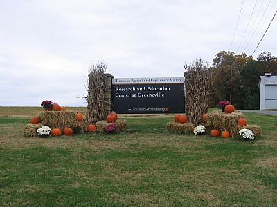 Entrance sign to our research center